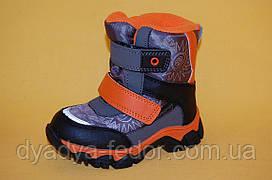 Дитяче зимове взуття Термовзуття Тому.М Китай 0902 Для хлопчиків Сірі розміри 23_28