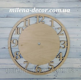 Заготовка для годинника з цифрами 20см (фанера 4 мм)