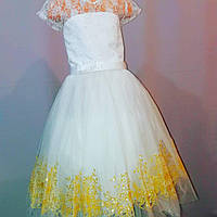 Белое бальное платье для девочки 5 - 9 лет, фото 1