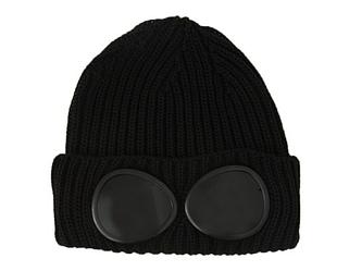 Зимова шапка чорна з лінзами CP Company в стилі унісекс чоловіча жіноча