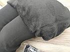 Бесшовные женские лосины с мехом Шугуан 1811 чёрные ЛЖЗ-1230483, фото 3