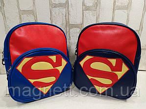 Качественный рюкзачок из Эко-кожи для мальчика Супермен Superman