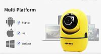 Цифровая IP камера HD1080P поворотная. Камера Wi Fi minion. Видео няня. Слежение за объектом. Ночное виденье.