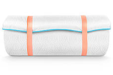 Міні-матрац скручений Sleep&Fly mini ЕММ Flex 2 в 1 Kokos (Флекс 2 в 1 кокос) жаккард, фото 3