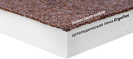 Мини-матрас скрученный  Sleep&Fly mini  ЕММ Flex 2 в 1 Kokos (Флекс 2 в 1 кокос) жаккард 140x190