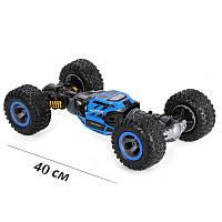 Машинка-трансформер вездеход Leopard King 40 см. Аккумулятор 6V. Цвет: синий. Original