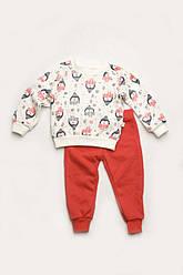 Детский утепленный костюмчик для сна, дома и садика (футер), Модный карапуз, размеры 92-122