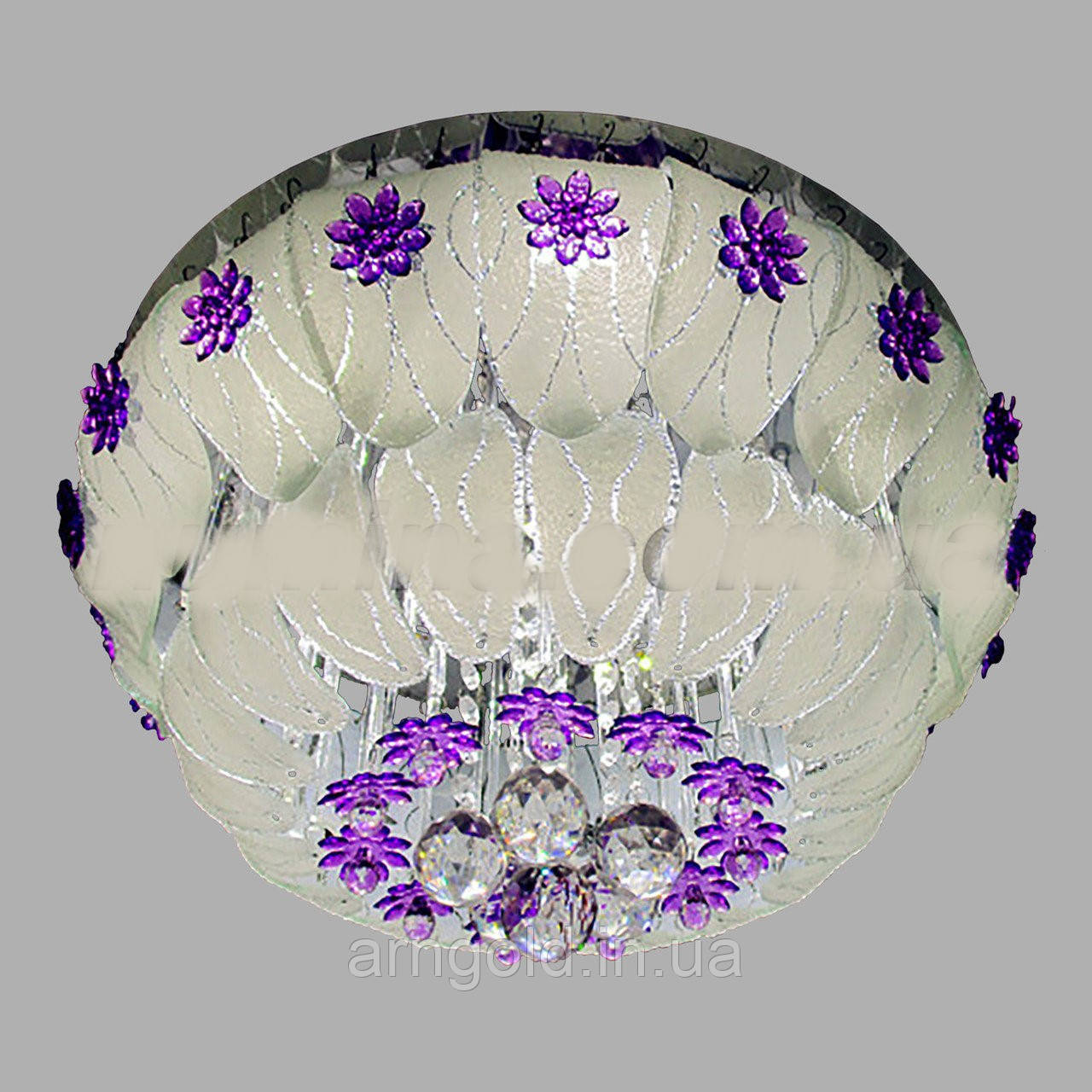 Люстра потолочная торт-LED 5567/500 RGB+E14+пульт