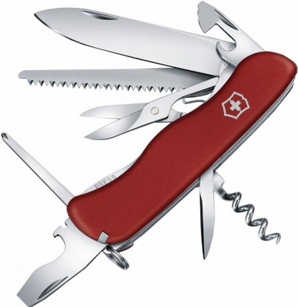 Нож складной, мультитул Victorinox Outrider (111мм, 14 функций), красный 0.8513