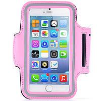 Армбенд, спортивный чехол Iphone 6 plus, розовый