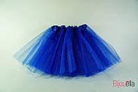 Юбка пышная Фатиног 30 см для девочки карнавальная юбка-пачка синий