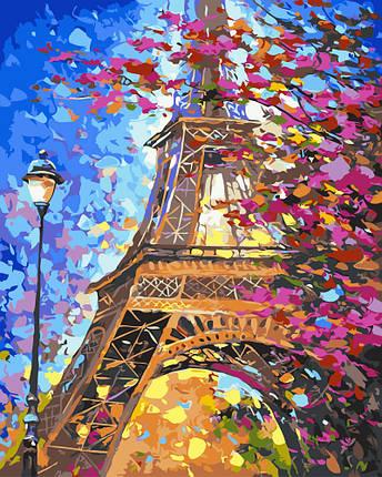 Картина по Номерам 40x50 см. Парижский пейзаж BrushMe, фото 2