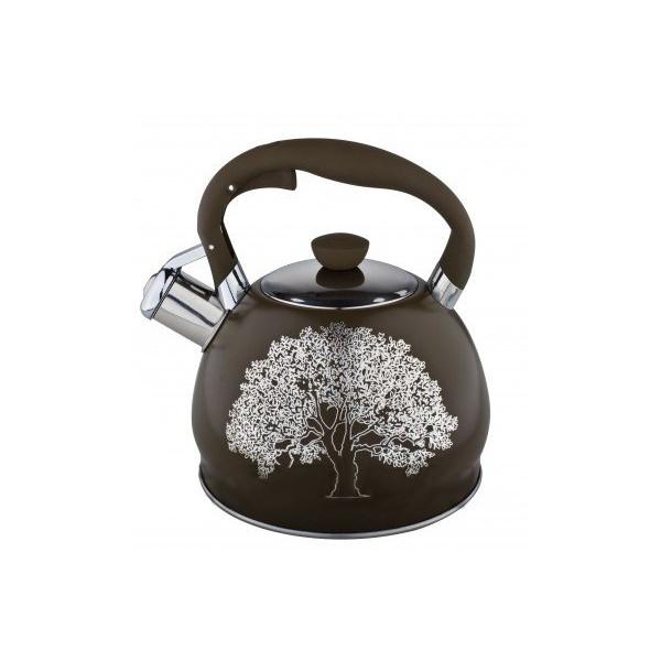 Чайник из нержавеющей стали со свистком 2 л. Edenberg EB-1956 Коричневый
