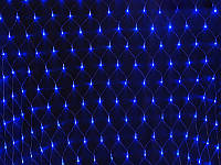 Гирлянда сетка 120 диодов 2х1,5м синяя