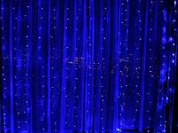 Гирлянда водопад LED 240 лампочек с коннектором: размер 3х2м Синяя