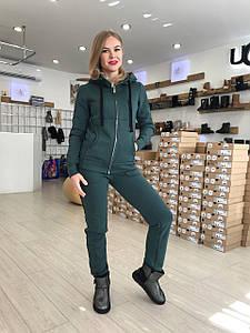Зелёный теплый женский костюм от Угг UGG Australia Zip Merino Green