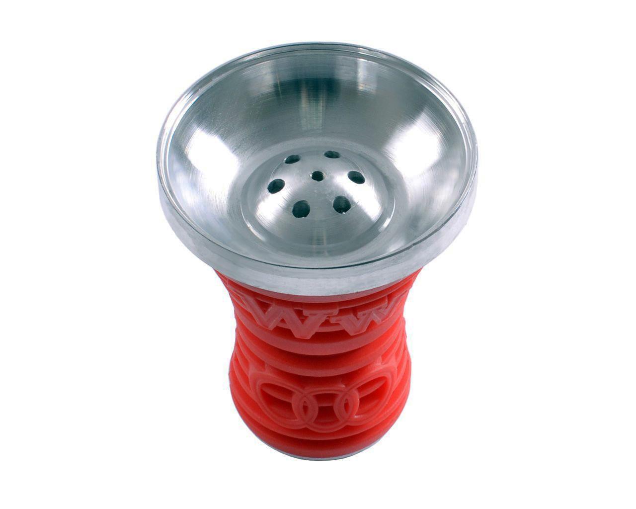 Чаша для кальяна металлическая в силиконе