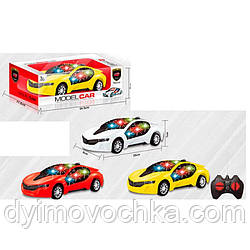 Машина 888-3D на радиоуправлении, 20 см, 1:20,3D свет, рез.кол,3 цвета,на батарейке
