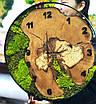 Часы в металлической ободке и мха (диаметр 45-50 см), фото 2