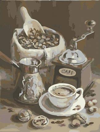 Картина по Номерам 40x50 см. Утреннее кофе Идейка, фото 2
