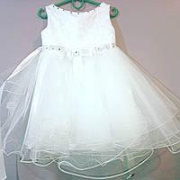Белое детское бальное платье на 2 - 3 годика, фото 1