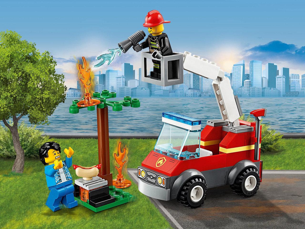 """Конструктор City 11211 """"Пожар на пикнике"""" (аналог Lego City 60212), 78 дет"""