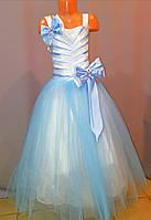 Блакитне бальне плаття для дівчинки 8 - 12 років