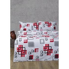 Постельное белье Lotus Ranforce - Geometry красный двуспальное