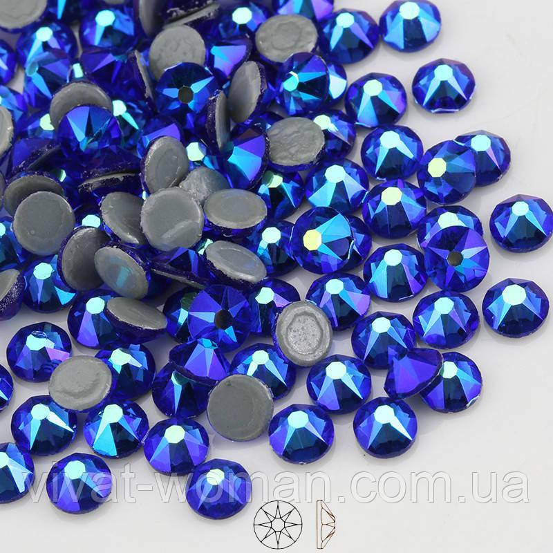 Стрази термоклеевие Xirius, SS16 (3,8-4,0 мм) Sapphire AB, 16 граней. Ціна за 144 шт