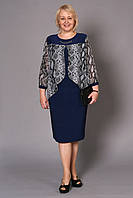 Красивое женское платье с комбинированной ткани