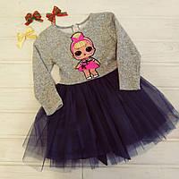 ✅Платье нарядное для девочки с фатином Платье теплое для девочки  Размеры 110 116 122