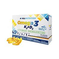 All Nutrition Omega-3 K2+D3 30 caps, фото 1