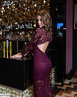 Платье длинное из гипюра в пол, вечернее в размере 42-48, фото 1