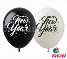 "Латексные шары 12"" (30 см) Happy New Year!, 10 шт"