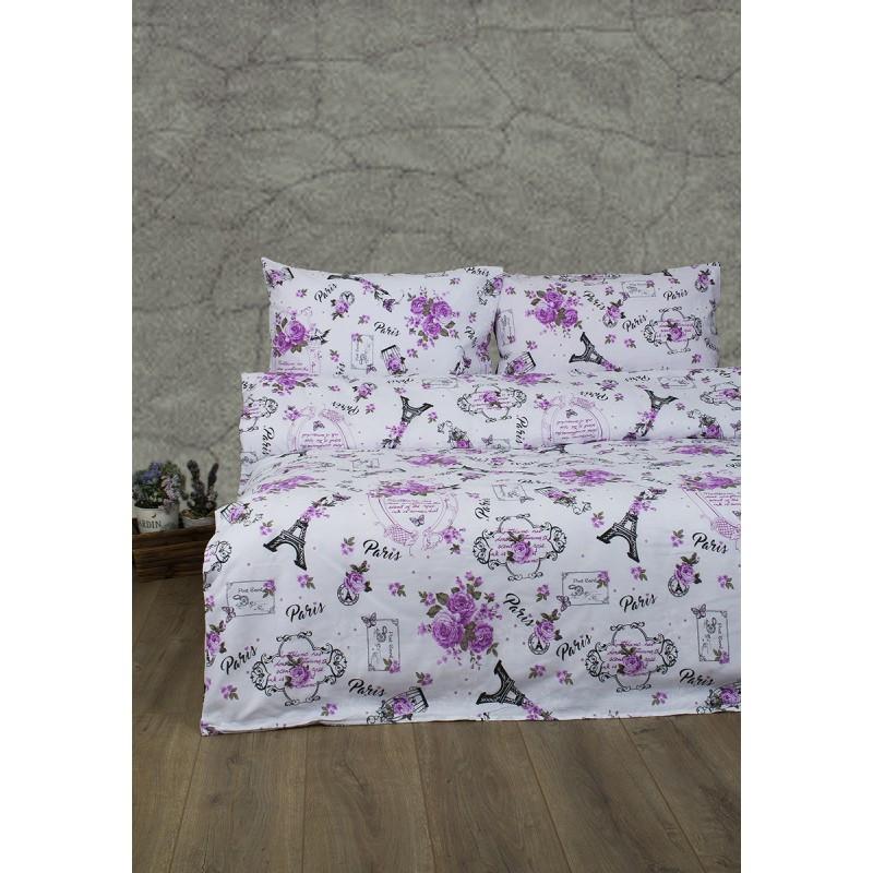 Постельное белье Lotus Ranforce - Emily розовый двуспальное