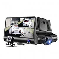 Автомобильный видеорегистратор с 3 камерами DVR WDR