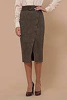 Замшевая юбка на запах до колен, фото 1