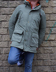 Мужская светлая куртка парка Jack&Jones Jorlatto Parka капюшоном удлиненная