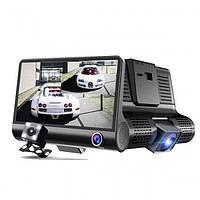 Видеорегистратор 3 камеры DVR Full HD 1080P