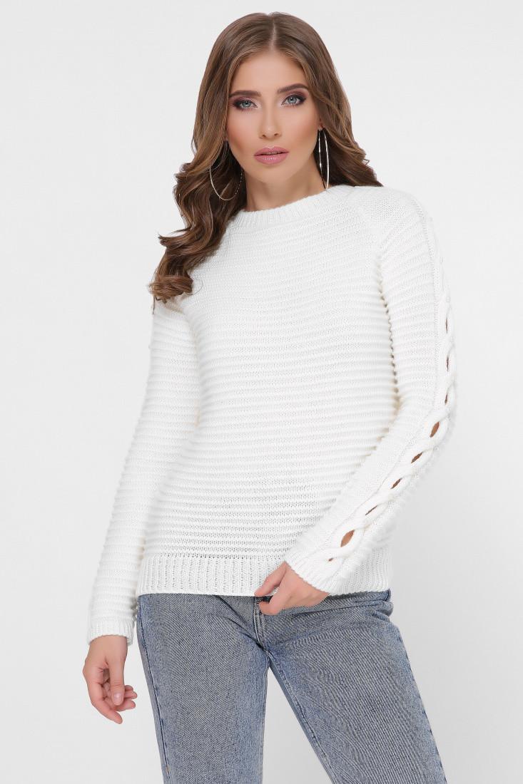 Полушерстяной женский свитер Лилу-2 с жемчугом