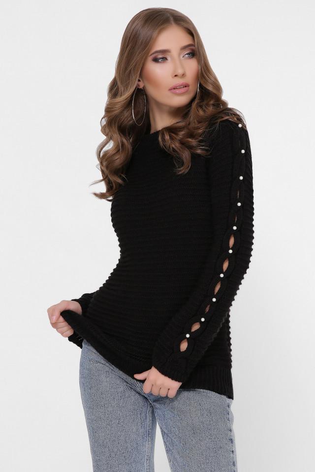 Фото Полушерстяного женского свитера Лилу-3
