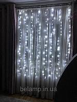 Гирлянда Штора «Белые огни» 2 на 2 м. 200 LED
