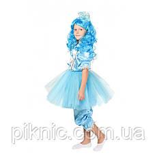 Костюм Мальвина + парик 5,6,7,8 лет. Детский новогодний карнавальный костюм для девочки 344, фото 3