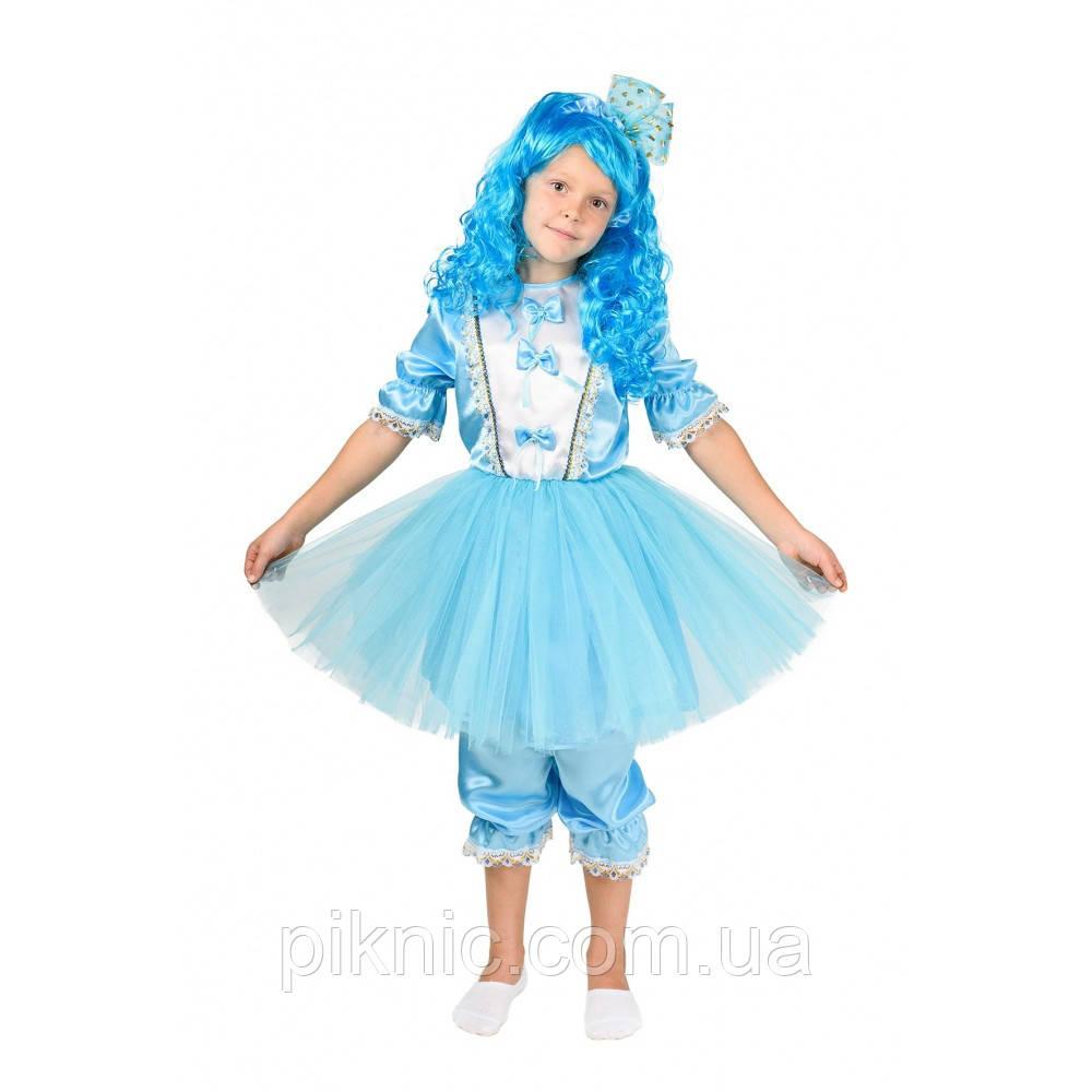 Костюм Мальвина + парик 5,6,7,8 лет. Детский новогодний карнавальный костюм для девочки 344