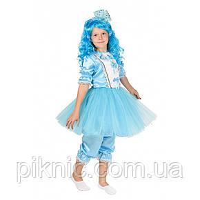Костюм Мальвина + парик 5,6,7,8 лет. Детский новогодний карнавальный костюм для девочки 344, фото 2