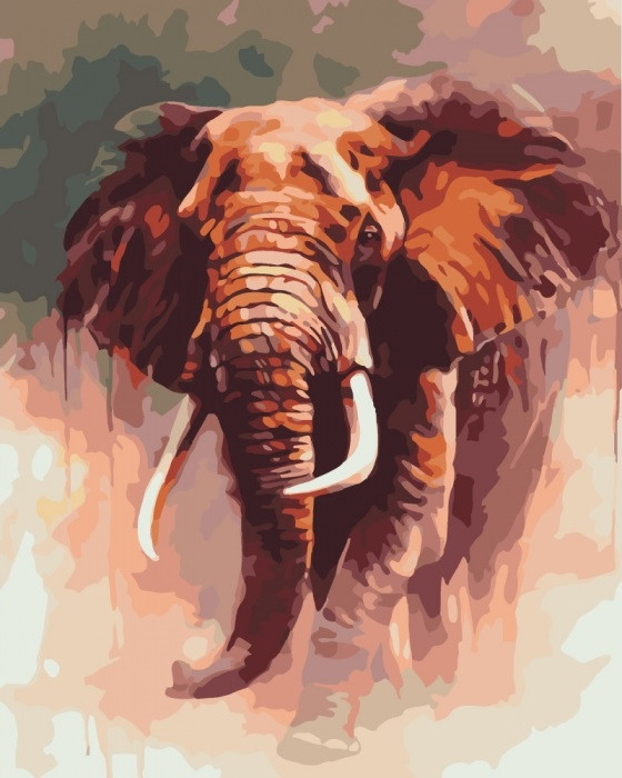 Картина по Номерам 40x50 см. Царский слон Идейка