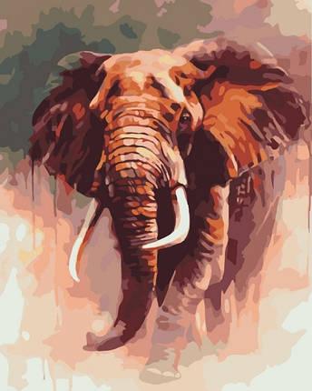 Картина по Номерам 40x50 см. Царский слон Идейка, фото 2