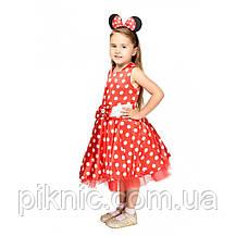 Детский костюм Минни Маус 5,6,7,8,9 лет. Новогодний карнавальный костюм для девочки, фото 3