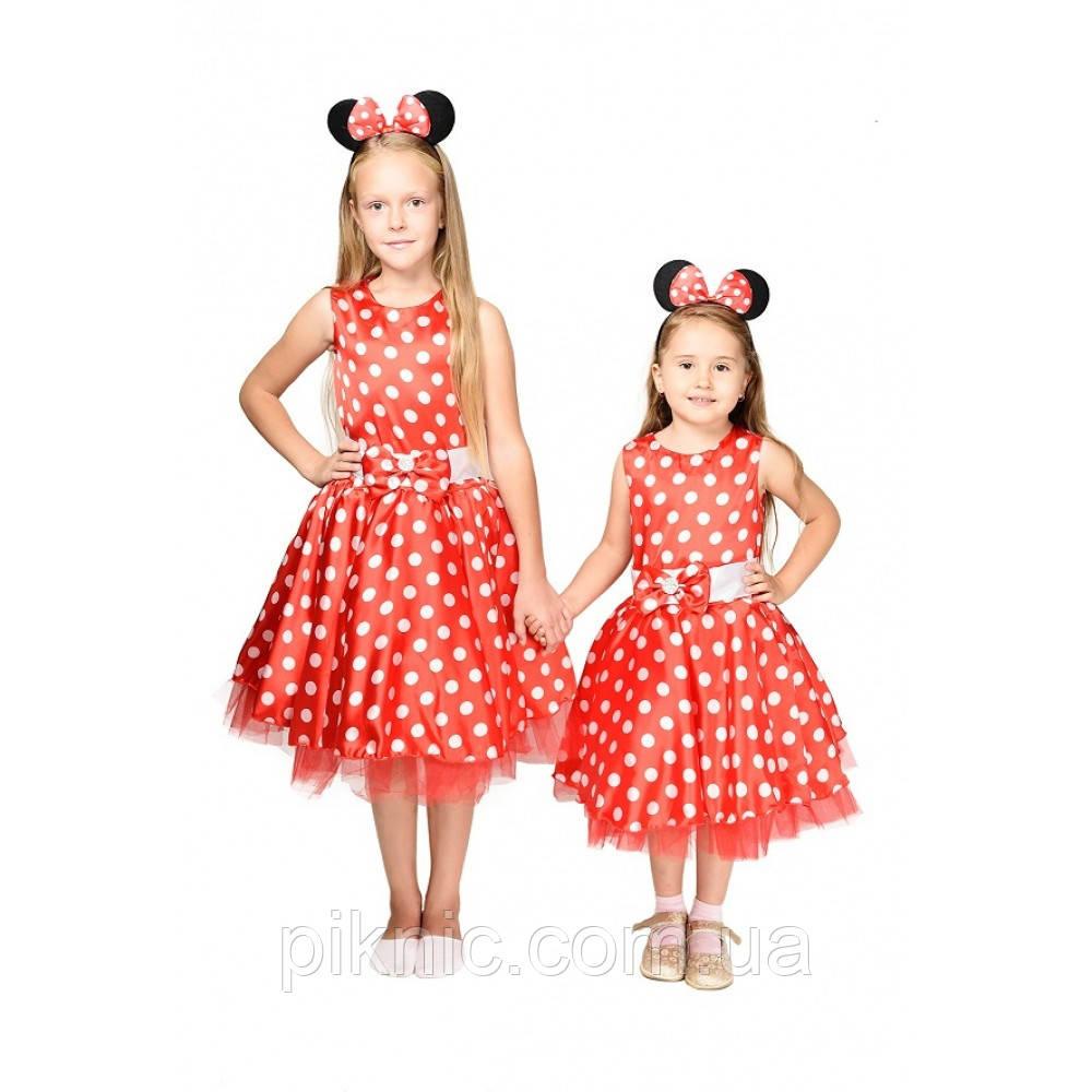 Детский костюм Минни Маус 5,6,7,8,9 лет. Новогодний карнавальный костюм для девочки