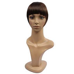 Накладная челка из натуральных волос. Цвет #08 Темно-Русый